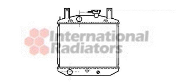 Radiateur, refroidissement du moteur - VAN WEZEL - 11002008