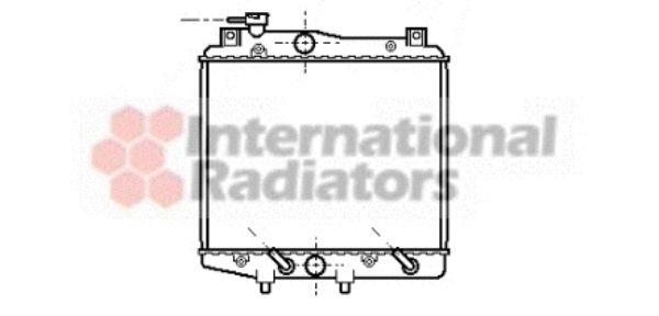 Radiateur, refroidissement du moteur - VAN WEZEL - 11002014