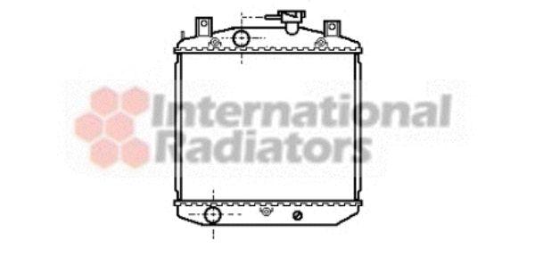Radiateur, refroidissement du moteur - VAN WEZEL - 11002016