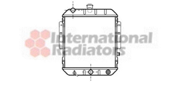 Radiateur, refroidissement du moteur - VAN WEZEL - 11002021