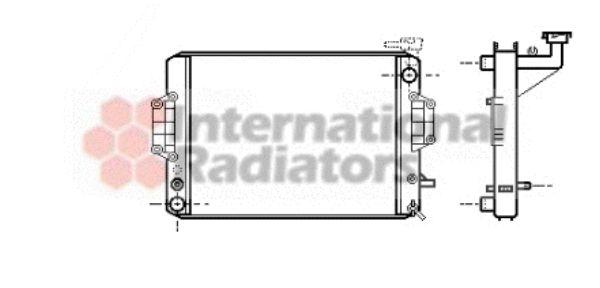 Radiateur, refroidissement du moteur - VAN WEZEL - 11002022