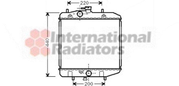Radiateur, refroidissement du moteur - VAN WEZEL - 11002024