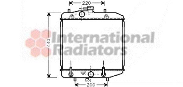 Radiateur, refroidissement du moteur - VAN WEZEL - 11002025