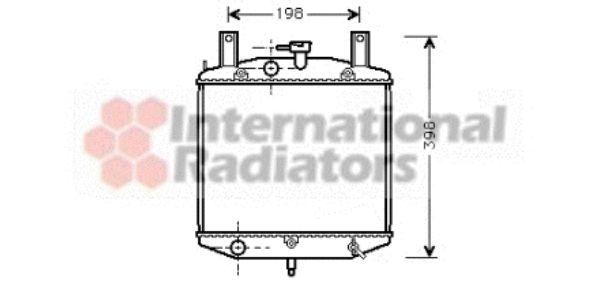Radiateur, refroidissement du moteur - VAN WEZEL - 11002026