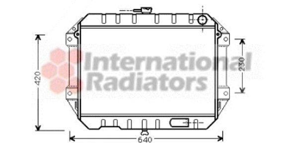 Radiateur, refroidissement du moteur - VAN WEZEL - 11002027