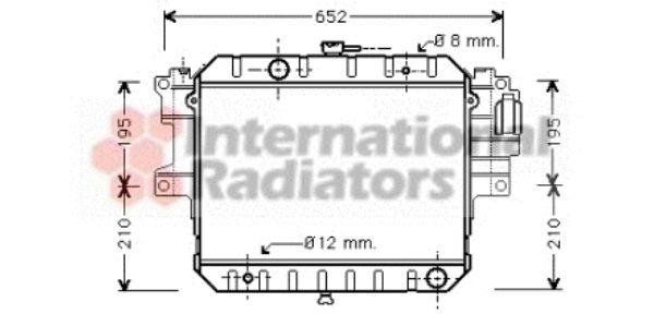 Radiateur, refroidissement du moteur - VAN WEZEL - 11002028