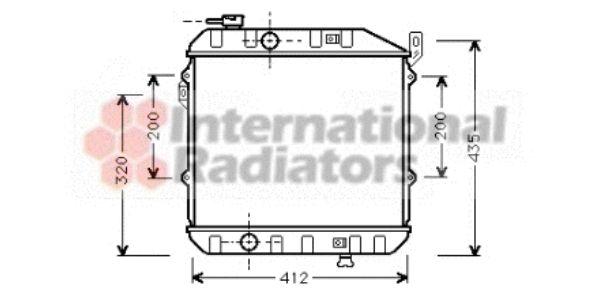 Radiateur, refroidissement du moteur - VAN WEZEL - 11002032