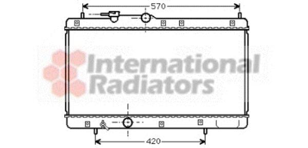 Radiateur, refroidissement du moteur - VAN WEZEL - 11002033