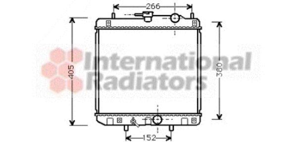 Radiateur, refroidissement du moteur - VAN WEZEL - 11002035