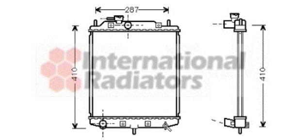 Radiateur, refroidissement du moteur - VAN WEZEL - 11002036
