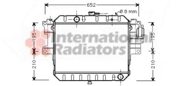 Radiateur, refroidissement du moteur - VAN WEZEL - 11002038