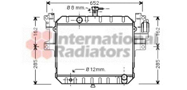 Radiateur, refroidissement du moteur - VAN WEZEL - 11002040