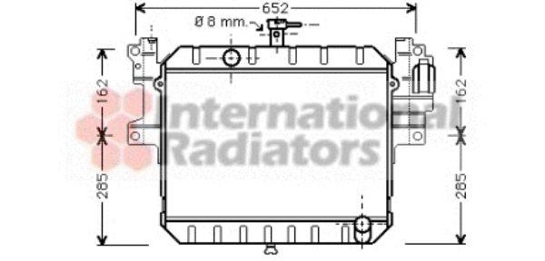 Radiateur, refroidissement du moteur - VAN WEZEL - 11002041