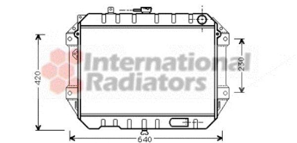 Radiateur, refroidissement du moteur - VAN WEZEL - 11002042
