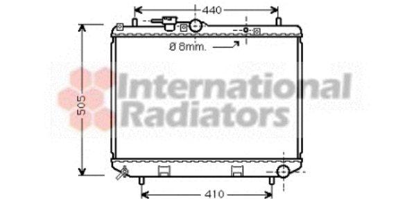 Radiateur, refroidissement du moteur - VAN WEZEL - 11002043