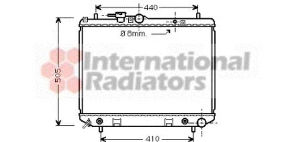 Radiateur, refroidissement du moteur - VAN WEZEL - 11002044