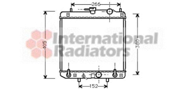 Radiateur, refroidissement du moteur - VAN WEZEL - 11002045