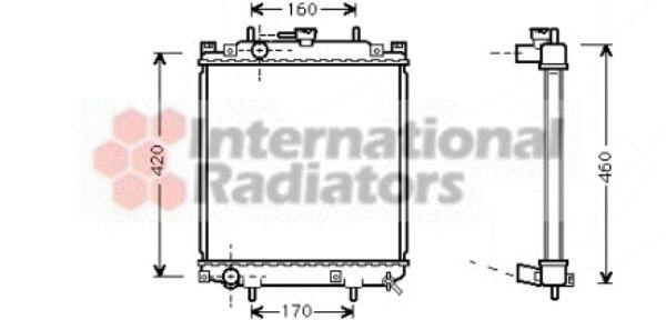 Radiateur, refroidissement du moteur - VAN WEZEL - 11002046