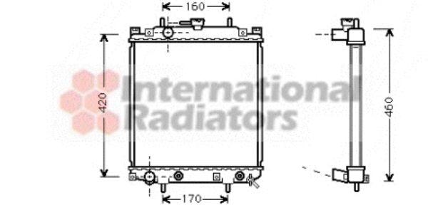 Radiateur, refroidissement du moteur - VAN WEZEL - 11002047