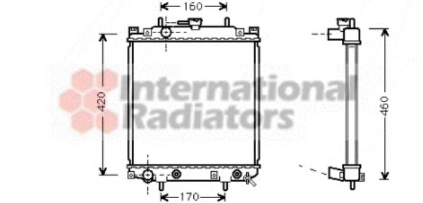 Radiateur, refroidissement du moteur - VWA - 88VWA11002047