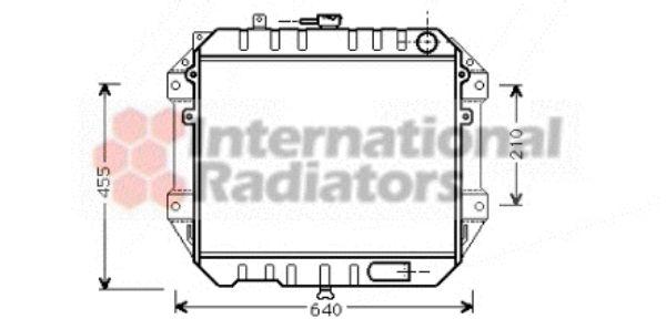 Radiateur, refroidissement du moteur - VAN WEZEL - 11002051