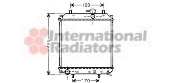 Radiateur, refroidissement du moteur - VAN WEZEL - 11002057