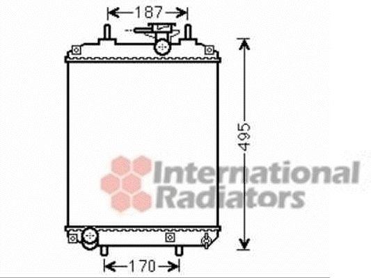 Radiateur, refroidissement du moteur - VAN WEZEL - 11002066
