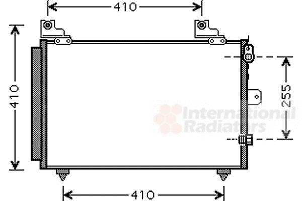 Condenseur, climatisation - VAN WEZEL - 11005056