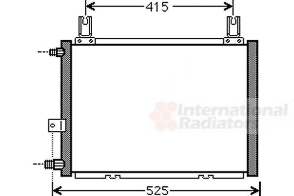 Condenseur, climatisation - VAN WEZEL - 11005060