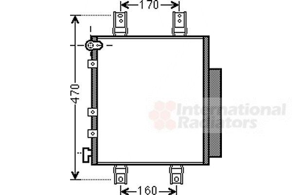 Condenseur, climatisation - VAN WEZEL - 11005063