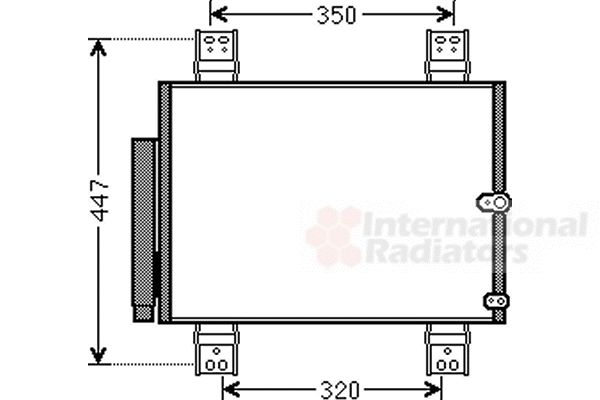 Condenseur, climatisation - VAN WEZEL - 11005064