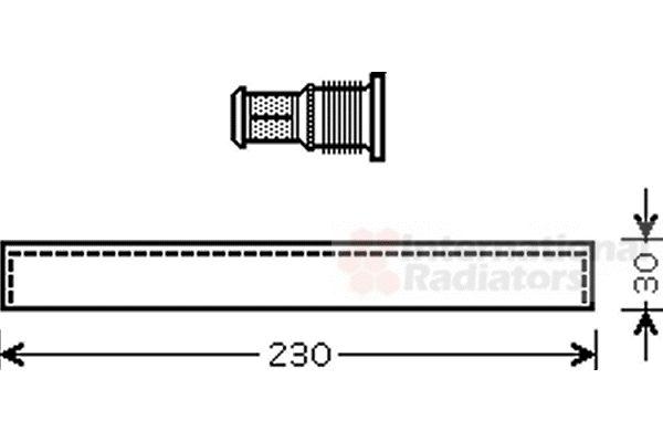 Filtre déshydratant, climatisation - VAN WEZEL - 1100D061