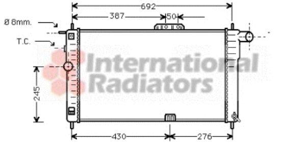 Radiateur, refroidissement du moteur - VAN WEZEL - 81002001