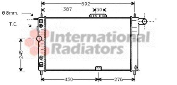 Radiateur, refroidissement du moteur - VAN WEZEL - 81002002