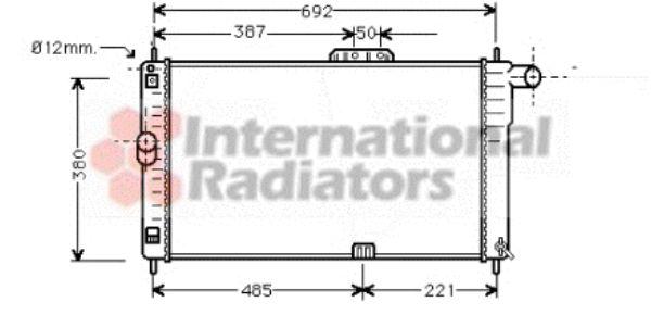 Radiateur, refroidissement du moteur - VAN WEZEL - 81002004