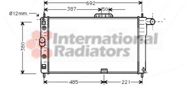 Radiateur, refroidissement du moteur - VAN WEZEL - 81002005