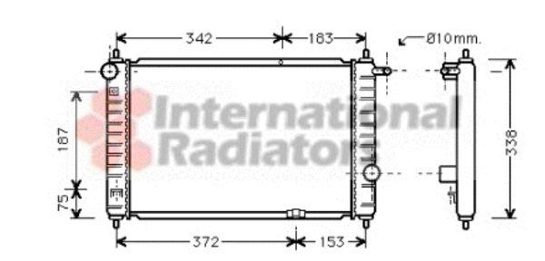 Radiateur, refroidissement du moteur - VAN WEZEL - 81002007