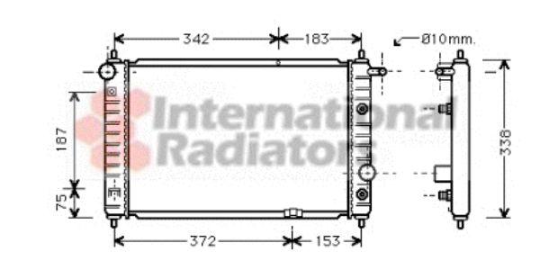 Radiateur, refroidissement du moteur - VAN WEZEL - 81002008