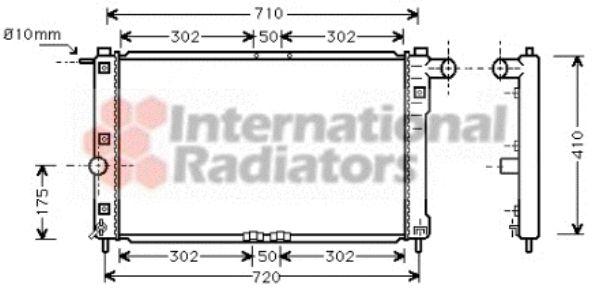 Radiateur, refroidissement du moteur - VAN WEZEL - 81002009