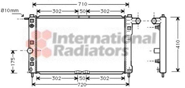 Radiateur, refroidissement du moteur - VAN WEZEL - 81002010