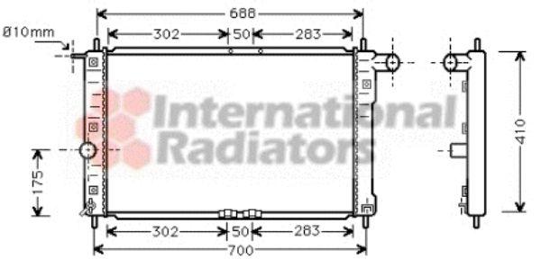 Radiateur, refroidissement du moteur - VAN WEZEL - 81002014