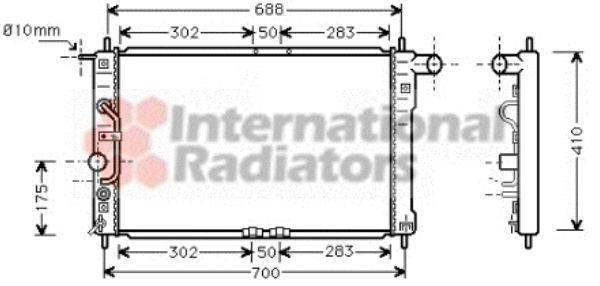 Radiateur, refroidissement du moteur - VAN WEZEL - 81002015