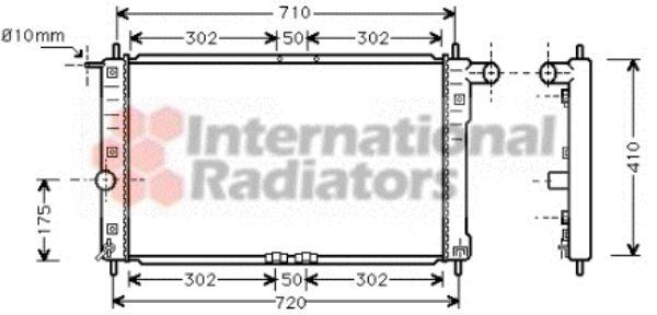 Radiateur, refroidissement du moteur - VAN WEZEL - 81002016