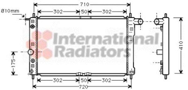 Radiateur, refroidissement du moteur - VAN WEZEL - 81002017