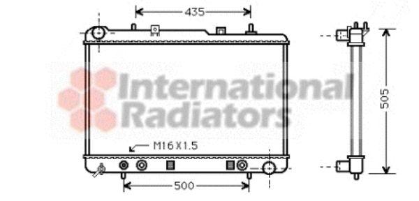 Radiateur, refroidissement du moteur - VAN WEZEL - 81002025