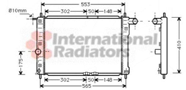 Radiateur, refroidissement du moteur - VAN WEZEL - 81002039