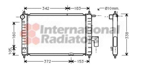Radiateur, refroidissement du moteur - VAN WEZEL - 81002046