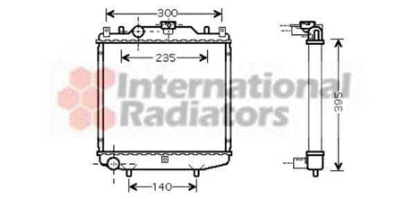 Radiateur, refroidissement du moteur - VAN WEZEL - 81002051
