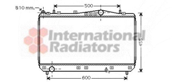 Radiateur, refroidissement du moteur - VAN WEZEL - 81002052