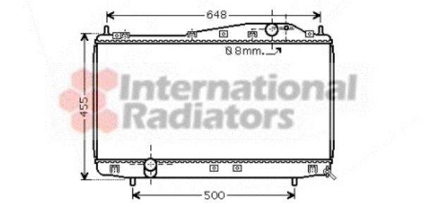 Radiateur, refroidissement du moteur - VAN WEZEL - 81002054